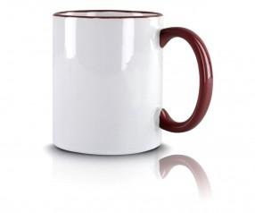 Werbeartikel Kaffeetasse maroon incl High-Quality Druck