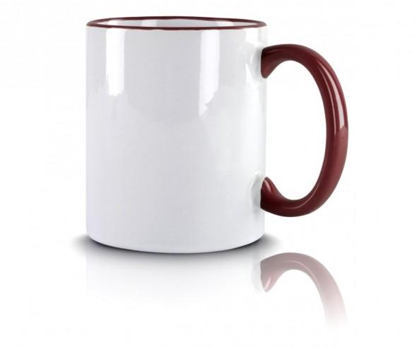 Kaffeetasse Werbeartikel maroon incl. High-Quality Druck