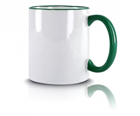 Werbeartikel Kaffeetasse grün incl. High-Quality Druck