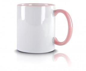 Werbeartikel Kaffeetasse pink incl High-Quality Druck