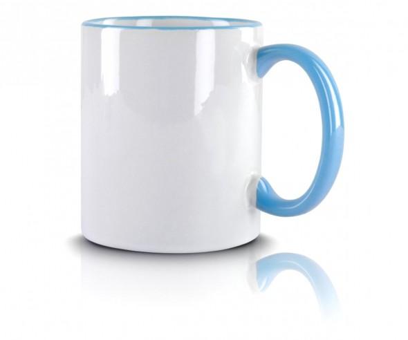 Werbeartikel Kaffeetasse hellblau incl High-Quality Druck