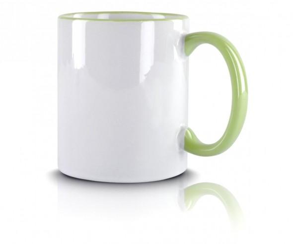 Werbeartikel Kaffeetasse hellgrün incl High-Quality Druck