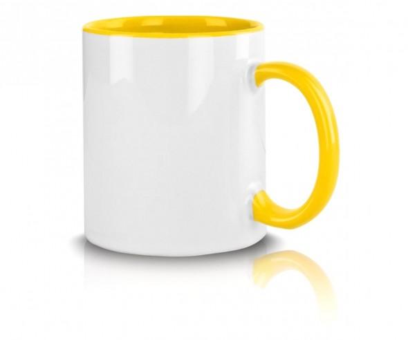 Werbetasse inklusive Werbeaufdruck gelb incl. High-Quality Druck