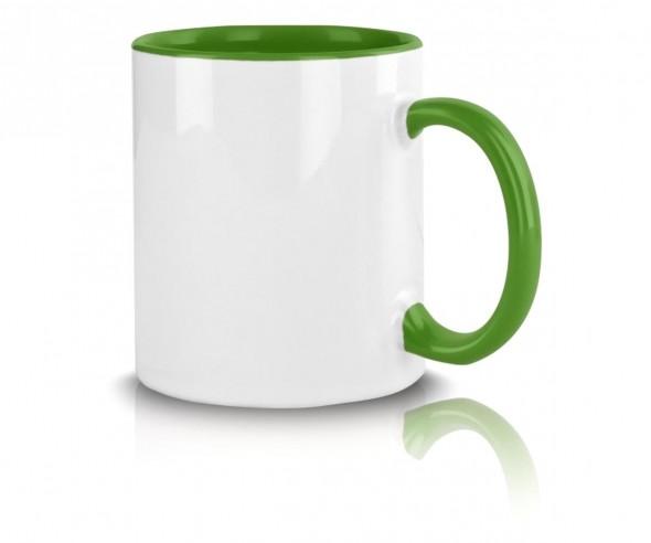 Werbebecher grün mit Logo bedrucken incl. High-Quality Druck