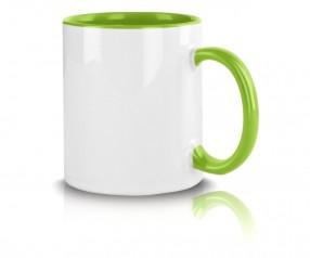 Werbeartikel Tasse mit Logo hellgrün incl. High-Quality Druck