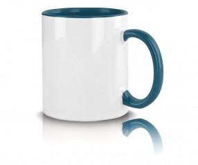 Tasse mit Werbeaufdruck blau incl. High-Quality Druck