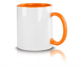 Promotion Tasse mit Werbedruck orange incl. High-Quality Druck