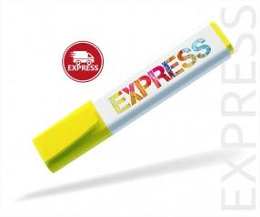 Textmarker Werbeartikel EXPRESS DIGITALDRUCK 6 TAGE Schneider 150 gelb