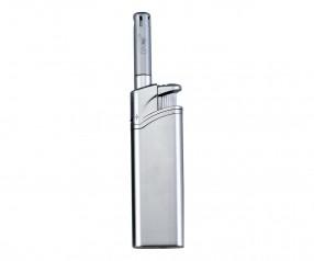 TOM Stabfeuerzeug Metallic Silber BB-77 49