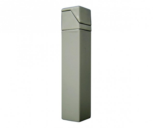 TOM Metall Metall-Feuerzeug Metallic Weiss EB-055 01