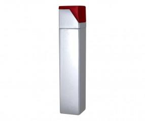 TOM Metall-Feuerzeug Metallic Silber Rot EB-055 42