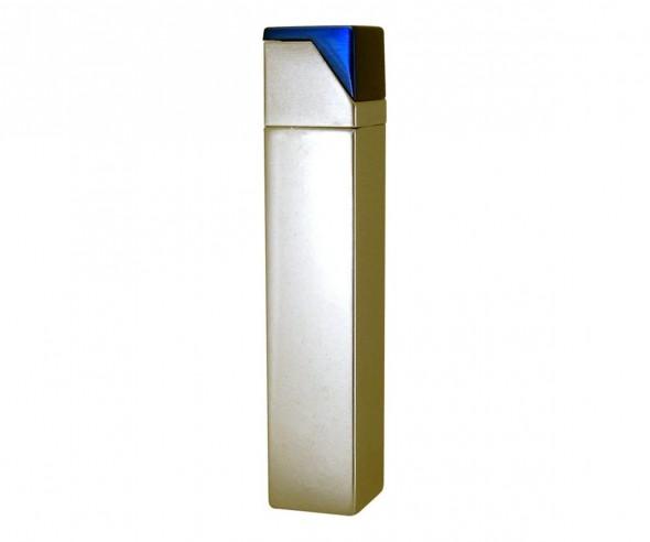 TOM Metall-Feuerzeug Metallic Silber Blau EB-055 43
