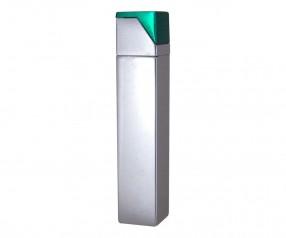 TOM Metall-Feuerzeug Metallic Silber Grün EB-055 45