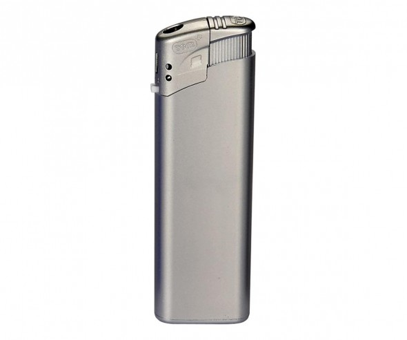 TOM Elektronik-Feuerzeug Metallic Silber EB-15 49