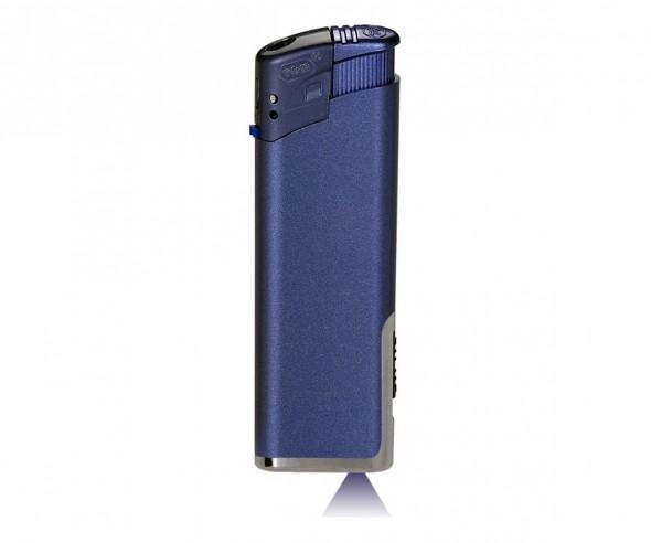 TOM LED Elektronik-Feuerzeug Metallic Blau EB-15 LED 43