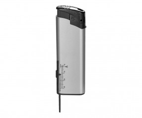 TOM Elektronik-Feuerzeug Metallic Silber EB-15 TM 496