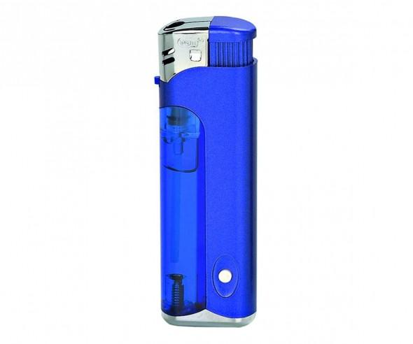TOM Elektronik-Feuerzeug Metallic Blau EB-17 LED 43