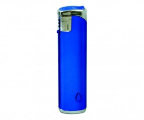 TOM Elektronik-Feuerzeug Metallic Blau Dunkel SM-5 LED 43