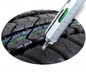 TROIKA PIP26 CONSTRUCTION Profile Reifenprofiltiefenmesser silber