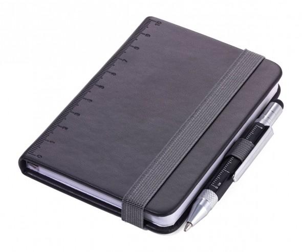 TROIKA NPP25 Notizbuch A7 LILIPAD+LILIPUT mit Kugelschreiber schwarz