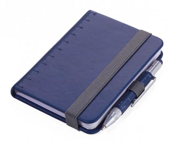 TROIKA NPP25 Notizbuch A7 LILIPAD+LILIPUT mit Kugelschreiber dunkelblau