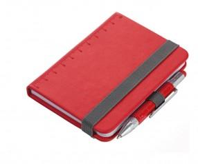 TROIKA NPP25 Notizbuch A7 LILIPAD+LILIPUT mit Kugelschreiber rot