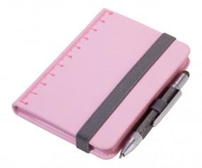 TROIKA NPP25 Notizbuch A7 LILIPAD+LILIPUT rosa mit Kugelschreiber titan