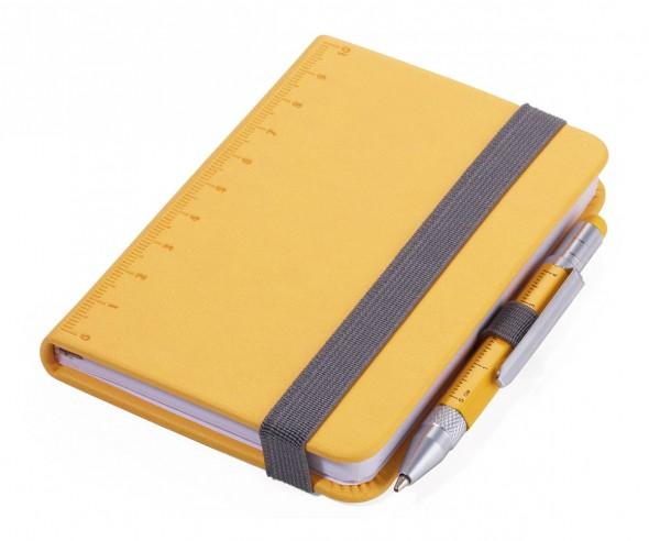 TROIKA NPP25 Notizbuch A7 LILIPAD+LILIPUT mit Kugelschreiber gelb