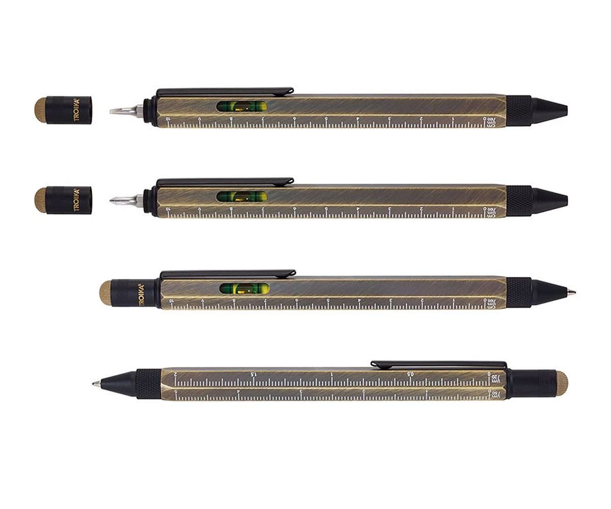 Troika Construction Multitasking Kugelschreiber Wasserwaage Lineal PIP20 BG