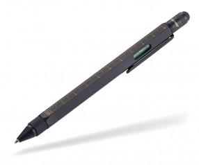 TROIKA PIP20 BG CONSTRUCTION Multifunktions-Kugelschreiber schwarz gold
