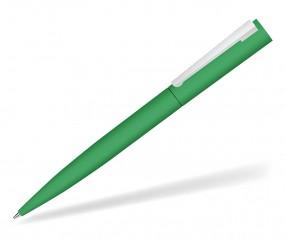 UMA BRUSH 09610 GUM Drehkkugelschreiber gummiert in dunkelgrün