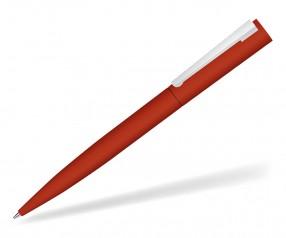 UMA BRUSH 09610 GUM Drehkkugelschreiber gummiert in rot