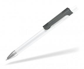 UMA CHECK 1-0142 K frozen SI Kugelschreiber weiss anthrazit