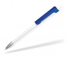 UMA CHECK 1-0142 K frozen SI Kugelschreiber weiss dunkelblau