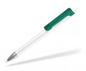 UMA CHECK 1-0142 K frozen SI Kugelschreiber weiss dunkelgrün