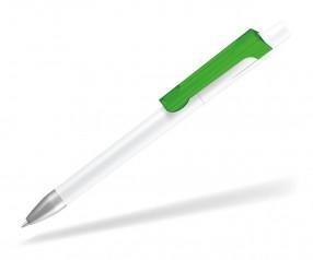 UMA CHECK 1-0142 K frozen SI Kugelschreiber weiss hellgrün