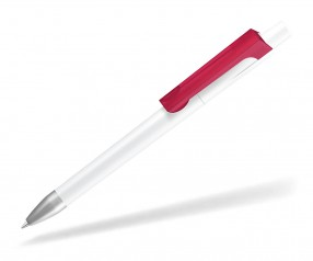 UMA CHECK 1-0142 K frozen SI Kugelschreiber weiss magenta