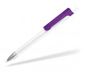 UMA CHECK 1-0142 K frozen SI Kugelschreiber weiss violett