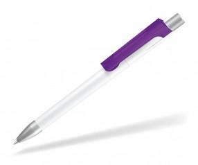 UMA CHECK 1-0142 K frozen TOP SI Kugelschreiber weiss violett