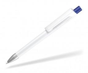 UMA CHECK 1-0142 SI Kugelschreiber weiss Drücker dunkelblau