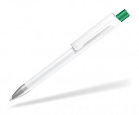UMA CHECK 1-0142 SI Kugelschreiber weiss Drücker dunkelgrün