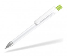 UMA CHECK 1-0142 SI Kugelschreiber weiss Drücker hellgrün