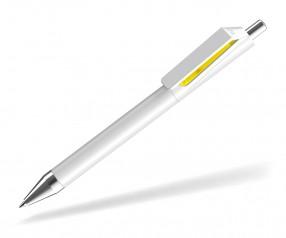 UMA FUSION 0-0155 SI Kugelschreiber weiss gelb
