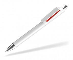 UMA FUSION 0-0155 SI Kugelschreiber weiss rot