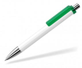 UMA Kugelschreiber FASHION 00134 SI weiss dunkelgrün