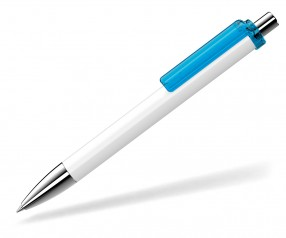 UMA Kugelschreiber FASHION 00134 SI weiss hellblau