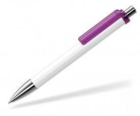 UMA Kugelschreiber FASHION 00134 SI weiss violett