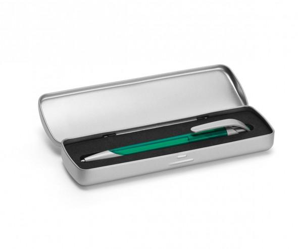UMA Metalletui 0-0962 für ein oder zwei Kugelschreiber silber