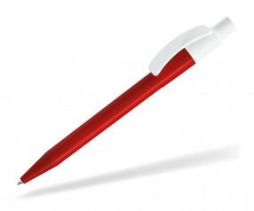 UMA PIXEL KG Kugelschreiber 0-0017 glanzweiss rot