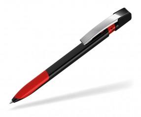 UMA Kugelschreiber SKY GRIP 00126 M schwarz rot